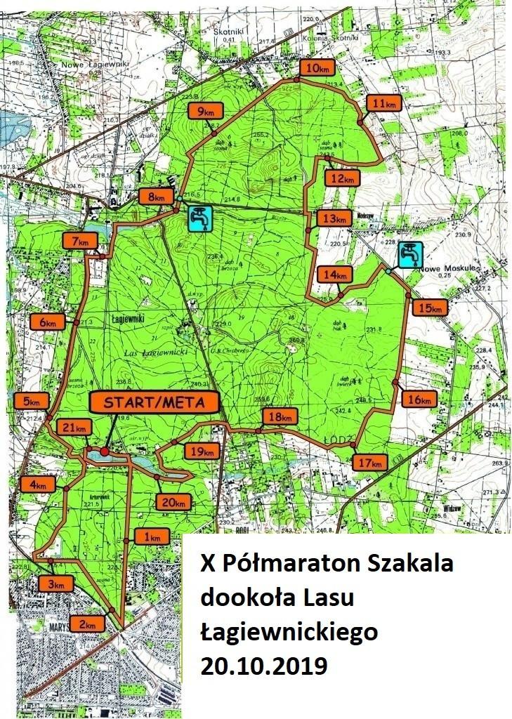 X Półmaraton Szkala Mapa